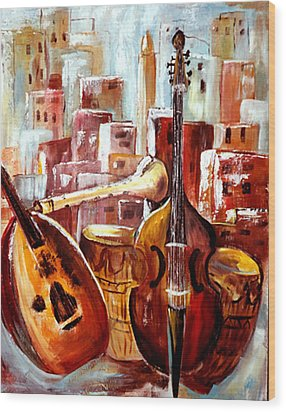 Music Of Morocco Wood Print by Patricia Rachidi