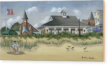 Music Pavillion In Ocean Grove  Wood Print