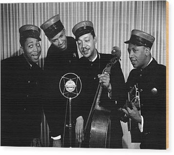 Music: The Ink Spots Wood Print by Granger