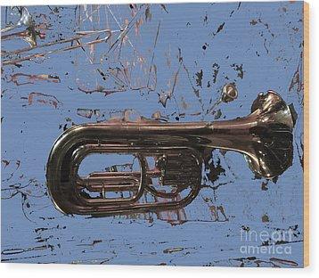 Musical Noise Wood Print by Al Bourassa