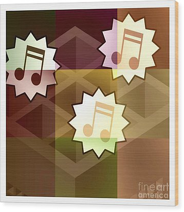 Musical Notes Wood Print