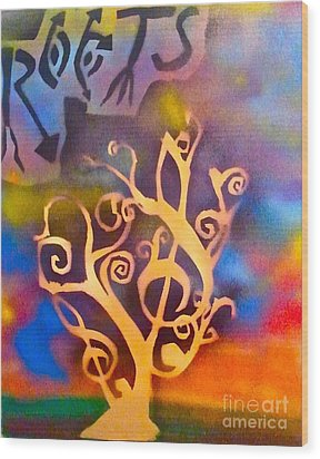 Musical Roots Wood Print by Tony B Conscious
