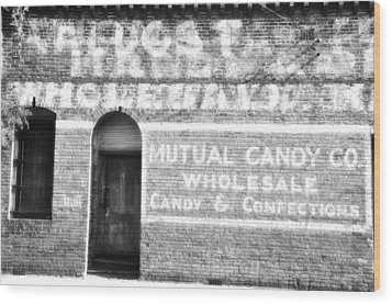 Mutual Candy Company Wood Print by Jan Amiss Photography