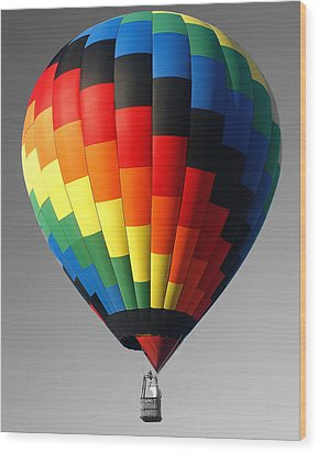 Wood Print featuring the photograph My Balloon   by Raymond Earley