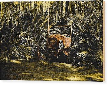 My Car Wood Print by Randy Sylvia
