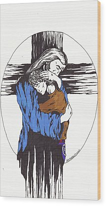 My Child Wood Print by Audrey Snead