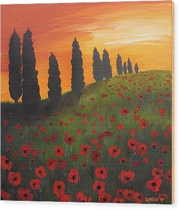 My Dear Tuscany Wood Print by Lynsie Petig