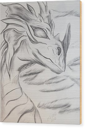 My Dragon Wood Print by Maria Urso