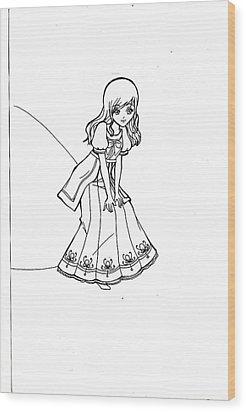 My Drawing 5 Wood Print by Miftahur Rizqiyah
