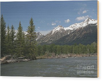 Wood Print featuring the photograph My Favorite Of The Grand Tetons by Living Color Photography Lorraine Lynch