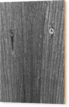 Wood Print featuring the photograph My Fence by Bill Owen