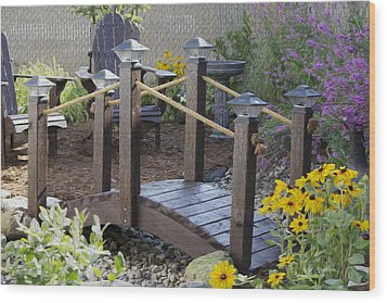 My Garden 10 Wood Print by Michel DesRoches