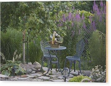 My Garden 3 Wood Print by Michel DesRoches