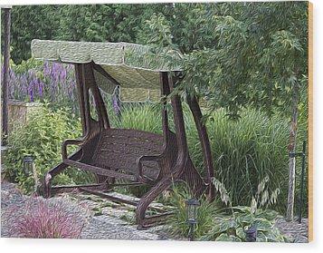 My Garden 4 Wood Print by Michel DesRoches