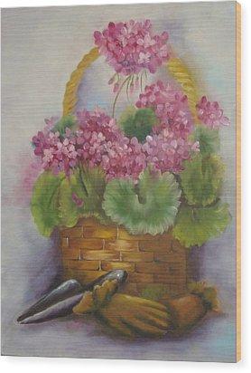 My Garden Prize Wood Print by Bootsie Herder
