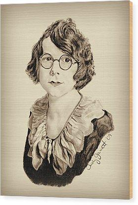 My Grandmother Stella  Wood Print by Judy Garrett