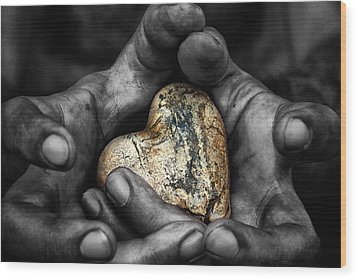 My Hands Your Hard Wood Print by Stelios Kleanthous