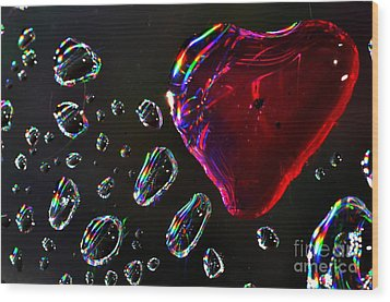 Wood Print featuring the photograph My Heart by Sylvie Leandre