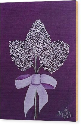 Wood Print featuring the painting My Lilas by Patricia Hiltz