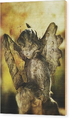 Wood Print featuring the digital art My Little Angel 02 by Kevin Chippindall