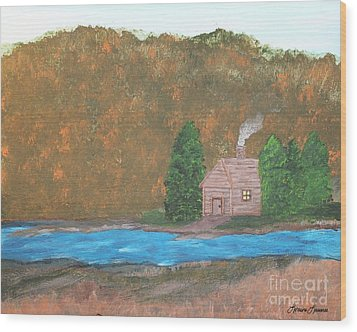 My Little Hide Away Wood Print by Lorraine Louwerse