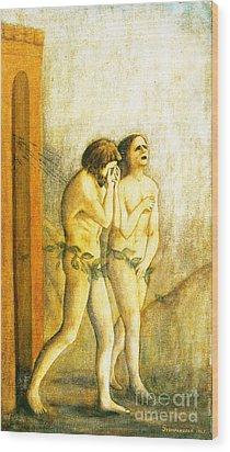 My Masaccio Expulsion Of Adam And Eve Wood Print by Jerome Stumphauzer
