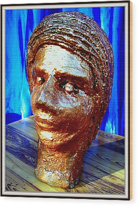 My Model Face Wood Print by Anand Swaroop Manchiraju