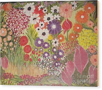 My Mother's Garden Wood Print by Rachel Carmichael