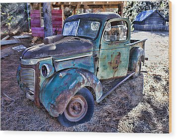 My Old Truck Wood Print by Garry Gay