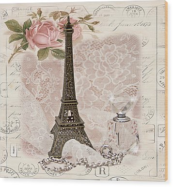My Paris Wood Print by Taschja Hattingh