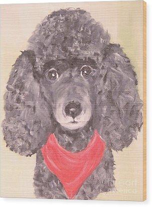 My Red Bandana Wood Print by Rachel Carmichael