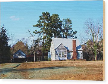Wood Print featuring the photograph My Red Chimney by Bob Whitt