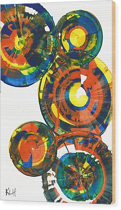 My Spheres Show Happiness  864.121811 Wood Print