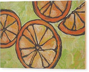 My Vitamin C Wood Print by Sandy Tracey