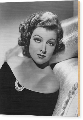 Myrna Loy By Clarence Sinclair Bull Wood Print by Everett