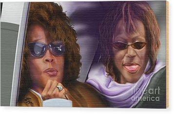 Myself And I - Whitney Wood Print by Reggie Duffie