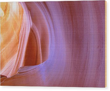 Mysterious Magnificent Antelope Canyon Wood Print by Christine Till