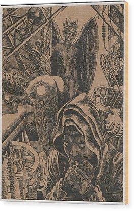Mysterious Plot Wood Print by Sirenko
