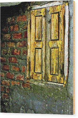 Mysterious Window Wood Print by Makarand Purohit
