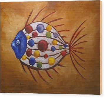 Mystery Fish Wood Print