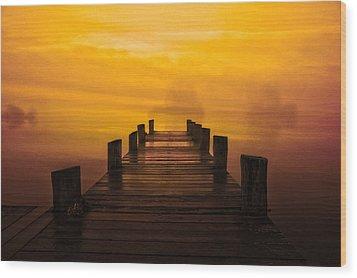 Mystic Dawning Wood Print by Kim Shatwell-Irishphotographer
