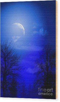 Mystic Night Wood Print by Mark Ashkenazi