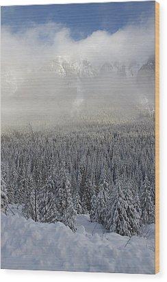 Mystic Peaks Wood Print