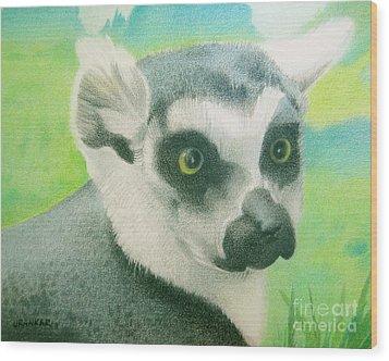 Mystic Seer Of Madagascar Wood Print by Lisa Urankar