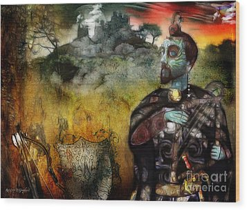 Wood Print featuring the digital art Mystical Adventures by Rhonda Strickland
