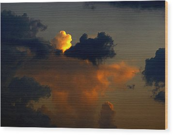 Mystical  Clouds Wood Print