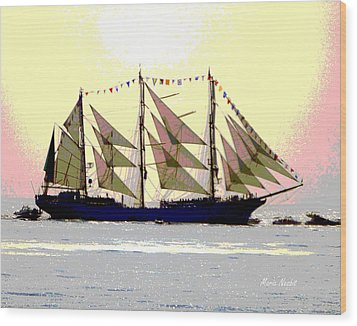 Mystical Voyage Wood Print