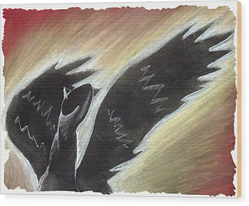 Myth Takes Flight Wood Print by Mark Schutter