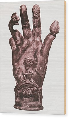 Mythological Hand Wood Print by Photo Researchers