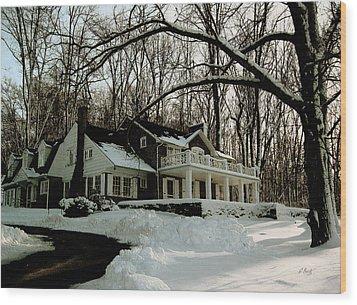 N. C. Wyeth Home Wood Print by Gordon Beck